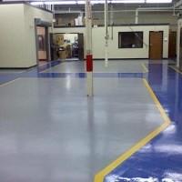 Imperpoly Color aplicado em piso de metalurgia