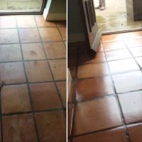 Imperseal aplicado em piso de lajota