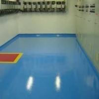 Imperpoly color aplicado em piso da Bayer