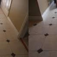 Cellux aplicada em piso antes e depois