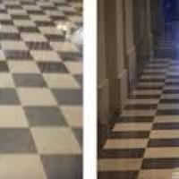 Antes e depois em piso vinilico