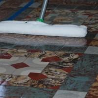 Imperseal aplicado em piso mosaico