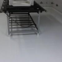 Tinta Epóxi aplicada em piso cerâmico