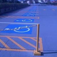 Pav Color na demarcação de vagas em estacionamento